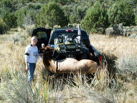 my wife heathers first elk, #4 Big cow
