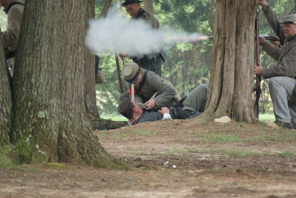Click to view full size image  ==============  Latta 2  Civil War reenactment at Latta Plantation.