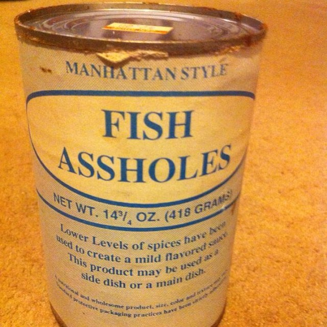Huntingnut forums general general canned food for Canned fish assholes